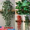 New US Hanging Artificial Ivy Leaf Garland Plants Vine Fake Foliage Home Decor