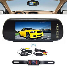 "7"" TFT-LCD Wireless Car Rear back Backup View Mirror Monitor Night Vision Camera"