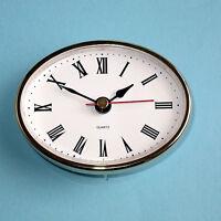 1x (65mm) QUARTZ CLOCK FIT-UP/Insert, Gold Trim, Roman Numeral clocks Room N0T5