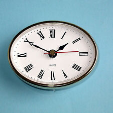 "2-1/2"" (65mm) QUARTZ CLOCK FIT-UP/Insert, Gold Trim, Roman Numeral clocks * Hot"