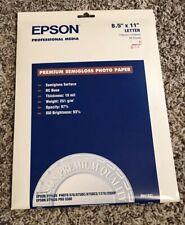 Epson Premium Photo Paper 68 lbs. Semi-Gloss 8-1/2 x 11 S041331