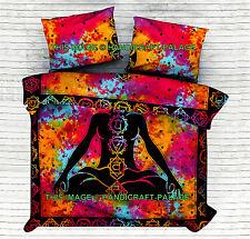 Indian Meditation Yoga Chakra Queen Quilt Duvet Comforter Bedding Doona Cover