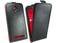 Handytasche für ASUS Zenfone GO (ZC500TG) Case Cover Hülle Bag Tasche in Schwarz