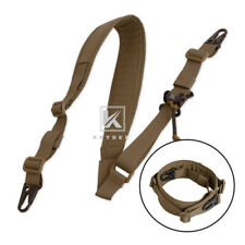 Krydex Modular Sling 2 / 1 Point Padded Shooting Sling Removable Coyote Brown