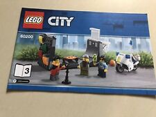 LEGO Skate Ramp, Police Motorbike& Mini Figures (Book 3) from 60200 Capital City