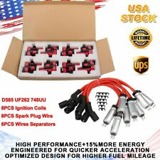 For Chevy Silverado GMC LS1 LS3 4.8 5.3L D585 UF262 Ignition Coils & Plug Pack