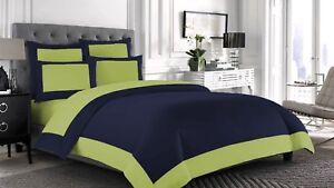 Egyptian Cotton 1000 TC Border 3pc Flat Sheet with Pillowcase All Sizes & Colors