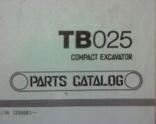 Takeuchi TB025 Excavator Spare parts manual / book / catalogue