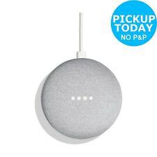 Google Home Mini Voice-Activated Wireless Bluetooth Speaker - Chalk.