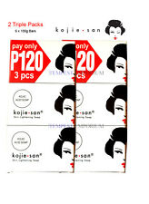2 x Kojie San Triple Packs 6 x 100g Kojic Acid Soap Whitening Lightening Genuine