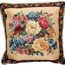 "DaDa Bedding Victorian Dark Border Spring Floral Accent Pillow Cushion Cover 18"""