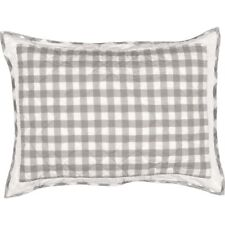 Annie Buffalo Grey Check Quilted Standard Pillow Sham by VHC Brands