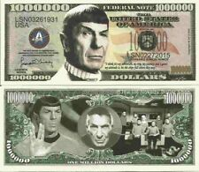 Leonard Simon Nimoy Commemorative Million Dollar Bills x 2 Spock Star Trek