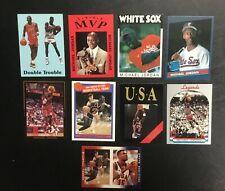 Lot (9) Rare Michael Jordan Basketball Baseball Cards Rated Rookie 1984 Olympics