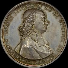 FRANCE 1834 SOCIETY OF AGRICULTURE MEDAL NGC MS63 LYON-FRANCOIS ROZIER, A+ TONED