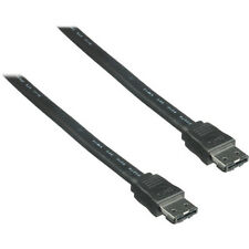 Pearstone 2m Esata Macho a Esata Cable Macho (Negro)