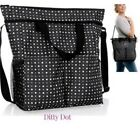 Thirty One Crossbody Organizing Utility Beach Tote Bag Zip Top 31 gift Ditty Dot