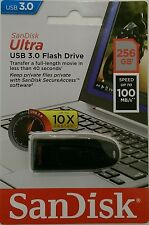 SanDisk Ultra USB 3.0 Chiavetta 256GB 100 Mbit/s nero (SDCZ48-256G-U46)