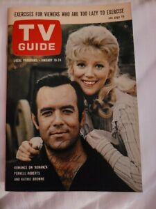 Pernell Roberts Signed TV Guide January 18-24, 1964 Bonanza