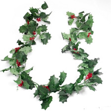 175cm  (6ft) Green Holly and Berry Christmas Garland
