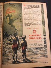 Atlantic Oil Original 1940s Australian Vintage Print Advertising WW2 Era