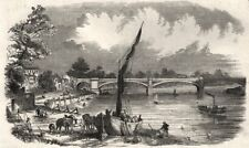 The bridge across the Thames, at Barnes. Loop line to Smallbery Green, 1849