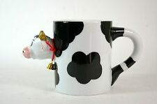 Novelty 3D Holstein Cow Mug with Bell
