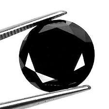 1,50 Carat diamant noir = 1 zirconium noir Qualité 8 Hearts and 8 Arrows 6 mmm
