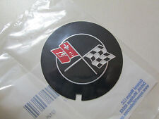 1969-1982 CHEVROLET CAMARO CORVETTE CROSS FLAG VALVE COVER EMBLEM 3946860