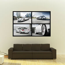 Poster of Porsche 911 997 TT 360 Forged wheels HD Huge Collage 54x36 Print