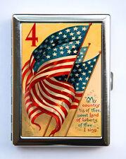 American Flag Cigarette Case Wallet Business Card Holder reto illustration