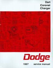 1967  67   DODGE CHARGER/DART/CORONET SHOP MANUAL