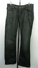 ROCK & REPUBLIC Rare Black/ Brown Denim Jeans/ Brass Studs On Pockets Size 29