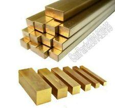 Brass square solid bar. 9.5mm. Model making. 300mm Length. CW614N/CZ121..