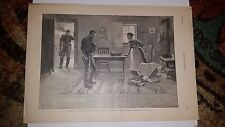 William Allen Rogers 1889 Art Print Delegated to Break The News