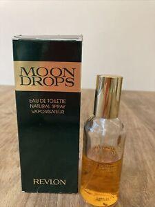 Vintage Revlon Moon Drops Eau De Toilette 50ml in box Approx Half