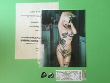 Lady Gaga signed Autograph picture photo Music Concert ticket guitar picks COA