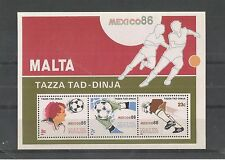 MALTA 1986 FOOTBALL WORLD CUP MINISHEET SG,MS784 UM/M NH LOT 2114A