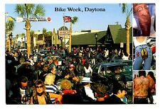 Bike Week Daytona Florida Postcard Motorcycles Tattoos Welcome Bikers Beach
