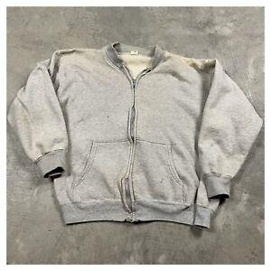 50s VTG SPORTSWEAR SEARS Talon Zipper L Full Zip Sweatshirt Faded Distressed