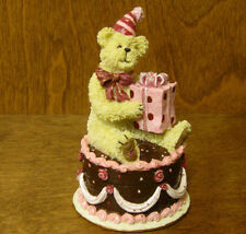 Boyds Bearstones #2277986 Eubie Celebratin...Happy Birthday,  1st E Trinket Box