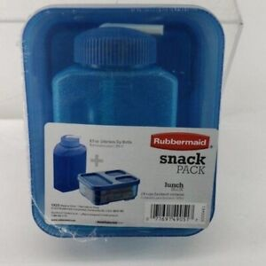 Rubbermaid school lunch box snack pack blue
