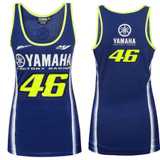 VALENTINO ROSSI VR46 LADIES BLUE YELLOW WHITE WOMENS YAMAHA RACING TANK TOP