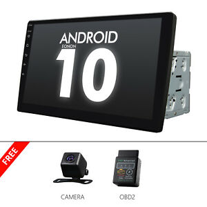 "CAM+OBD+10.1"" Car GPS Android 10 Stereo Radio Double 2 DIN Player Wifi Universal"