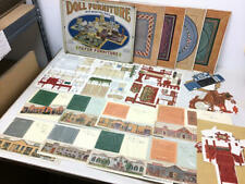 VINTAGE AMERICAN COLORTYPE DOLL HOUSE FURNITURE & TOY TOWN PAPER LOT