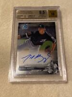 MICHAEL KOPECH 2017 BOWMAN CHROME PROSPECT ON CARD WHITE SOX AUTO BGS 9.5 10