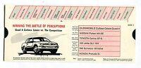Quad 4 Cutlass Calais Comparison Card 1987 EX 100616jhe