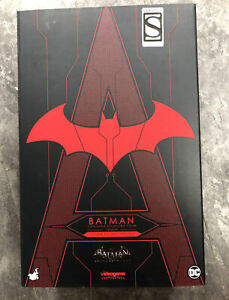 Hot Toys VGM29 Arkham Knight Batman Futura Knight Red Version box open Read Info