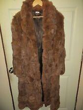 Full length Vintage Rabbit Womens Jacket Coat Medium Belted