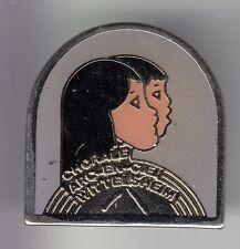 RARE PINS PIN'S .. MUSIQUE MUSIC CHANT CHORALE ENFANT ALSACE WITTELSHEIM 68 ~DC